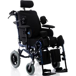 SEDIA A ROTELLE  / POLTRONA  POLIFUNZIONALE - sedile basculante - ruote posteriori Ø30cm