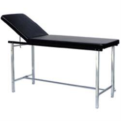 LETTINO VISITA MEDICA REGOLABILE in acciaio cromato - 180x55xh.80 - portata 150kg - nero