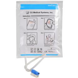 COPPIA PIASTRE ELETTRODI MONOPAZIENTE ORIGINALI - per defibrillatore CU MEDICAL I-PAD NF1200 - adulto