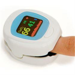 SATURIMETRO OXY PEDIATRICO PULSOSSIMETRO con batterie ricaricabili e custodia