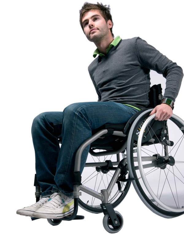Sedia a rotelle carrozzina sagitta superleggera for Misure cuscino carrozzina