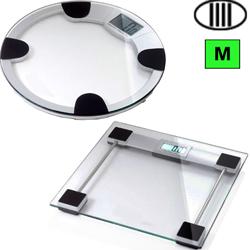 BILANCIA PESAPERSONE DIGITALE PROFESSIONALE - pedana in vetro - classe IIII - portata 150kg - quadrata o rotonda
