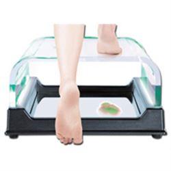PODOSCOPIO A LUCE POLARIZZATA - esame postura / plantare - 44x43xh.22cm - portata 135kg