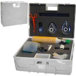 KIT RIANIMAZIONE ADULTI - 45x32xh.15cm - con bombola ossigeno, pallone in silicone, maschere + varie