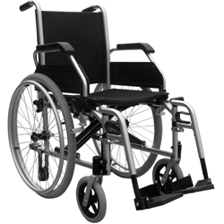 Sedia a rotelle carrozzina standard con schienale fisso for Larghezza sedia a rotelle
