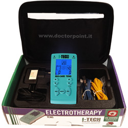 ELETTROSTIMOLATORE MUSCOLARE - TENS MIO-CARE - 2 canali - 20 programmi medicali - con display