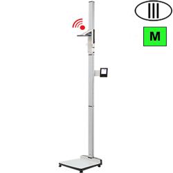 BILANCIA PESAPERSONE A COLONNA SECA 285 WIRELESS E CALCOLO BMI CON ALTIMETRO - classe III - portata 300kg - altimetro 30/220cm
