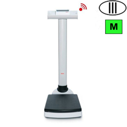 BILANCIA PESAPERSONE A COLONNA DIGITALE PROFESSIONALE SECA 704 WIRELESS - classe III - portata 300kg